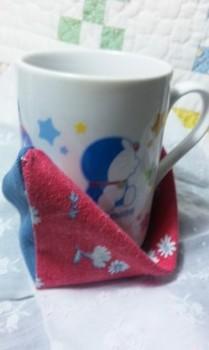 (手芸)マグカップ用のコースター~ドラえもんマグが可愛い~♪♪.jpg